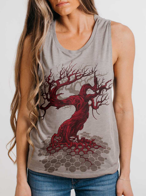 Reclamation - Multicolor on Heather Stone Womens Muscle Tank