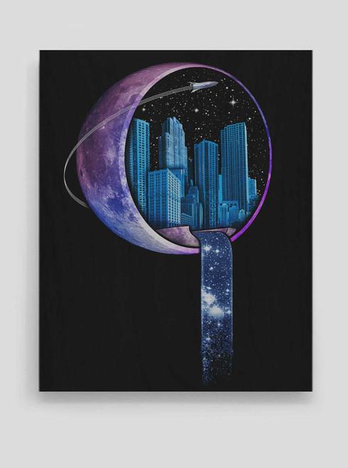 Stardust City - 8 x 10 Wood Print