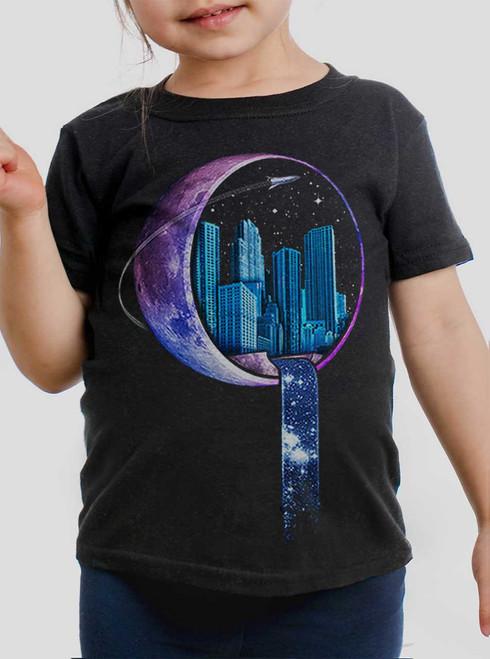 Stardust City - Multicolor on Black Toddler T-Shirt
