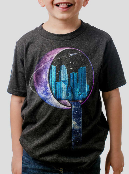 Stardust City - Multicolor on Heather Black Triblend Youth T-Shirt