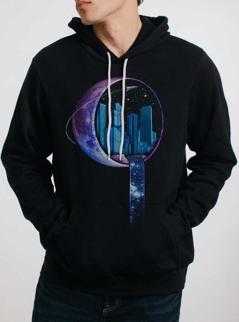 Stardust City - Multicolor on Black Men's Pullover Hoodie