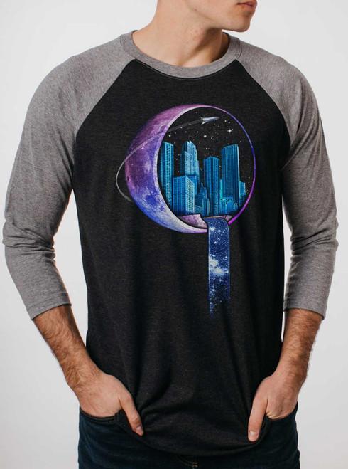 Stardust City - Multicolor on Heather Black and Grey Triblend Raglan