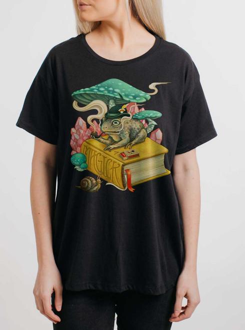 Magick - Multicolor on Black Womens Boyfriend T Shirt