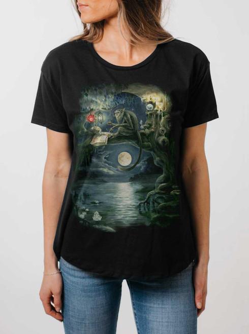 Ponder - Multicolor on Black Womens Boyfriend T Shirt
