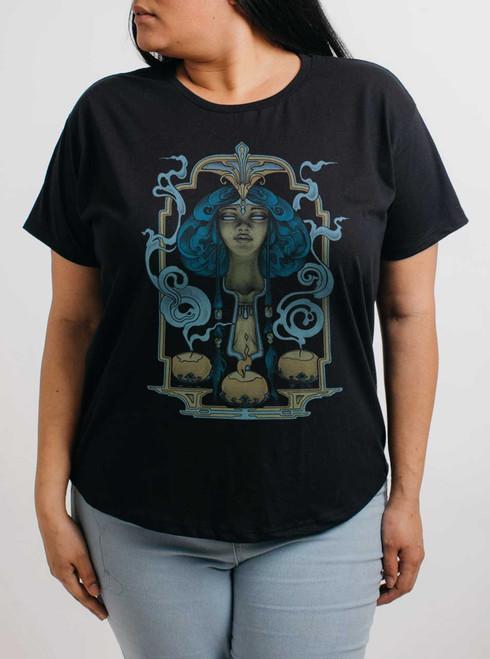 Presence - Multicolor on Black Womens Boyfriend T Shirt