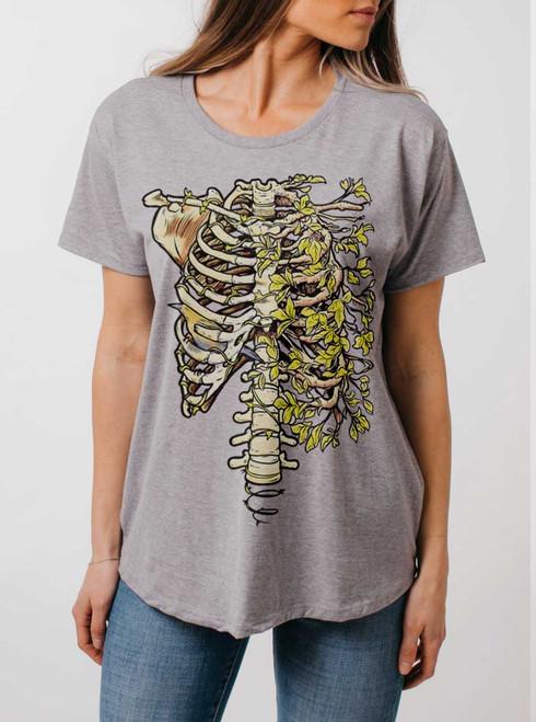 Ribs - Multicolor on Heather Grey Womens Boyfriend T Shirt