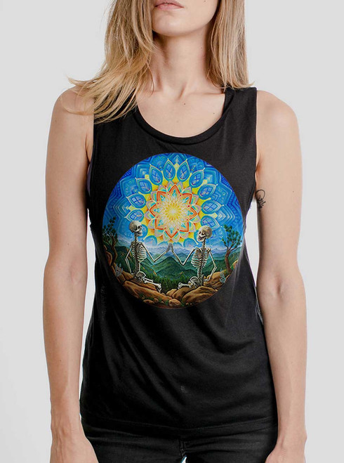Union - Multicolor on Black Womens Muscle Tank