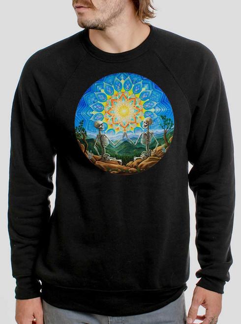 Union - Multicolor on Black Men's Sweatshirt