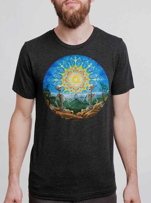Union - Multicolor on Heather Black Triblend Mens T Shirt
