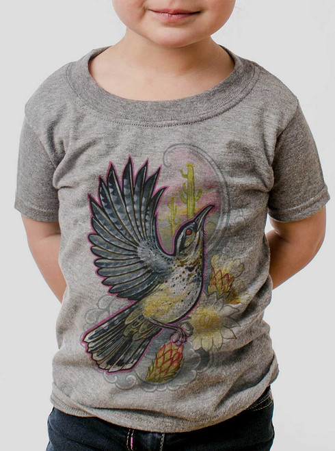 Cactus Wren - Multicolor on Heather Grey Toddler T-Shirt