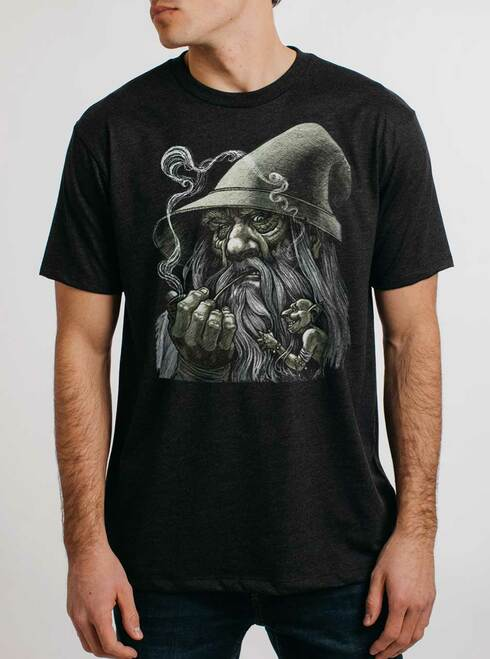 Wizard - Multicolor on Heather Black Triblend Mens T Shirt