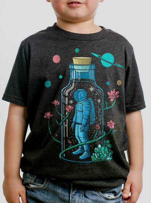 Astro Sauce - Multicolor on Heather Black Triblend Youth T-Shirt