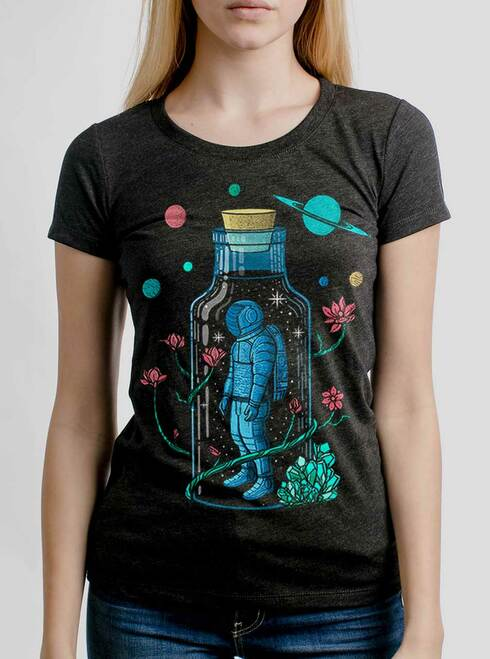 Astro Sauce - Multicolor on Heather Black Triblend Womens T-Shirt