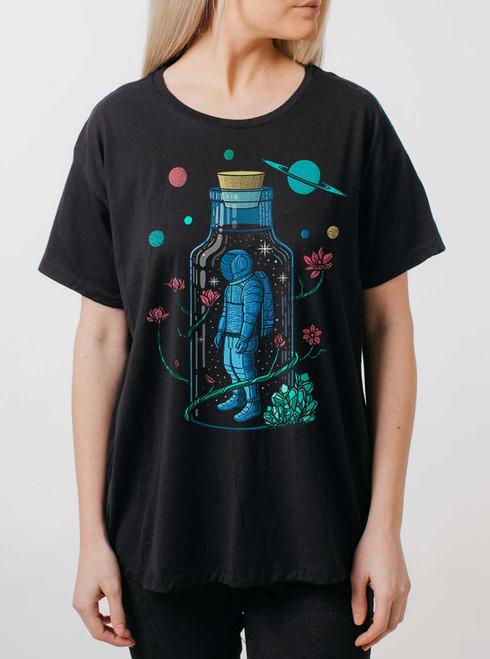 Astro Sauce - Multicolor on Black Womens Boyfriend T Shirt