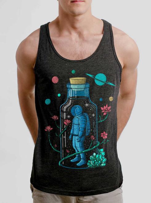 Astro Sauce - Multicolor on Heather Black Triblend Mens Tank Top