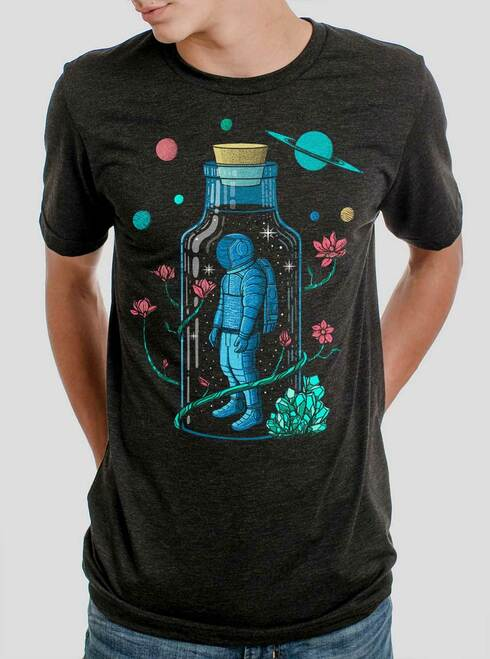 Astro Sauce - Multicolor on Heather Black Triblend Mens T Shirt