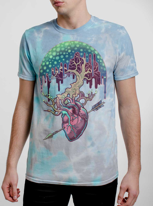 Empathy - Multicolor on Turquoise Mens Tie Dye T Shirt