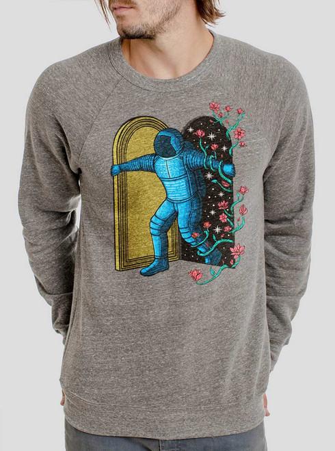 New Dimension - Multicolor on Heather Grey Triblend Men's Sweatshirt