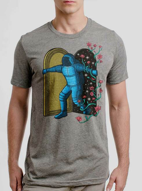 New Dimension - Multicolor on Heather Grey Triblend Mens T Shirt