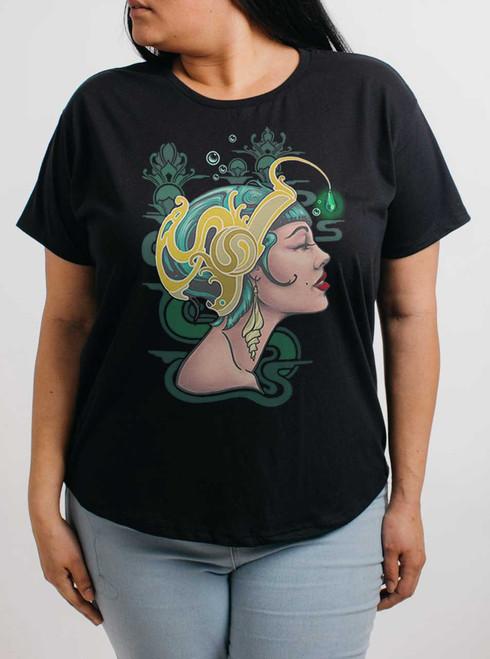 Allure - Multicolor on Black Womens Boyfriend T Shirt