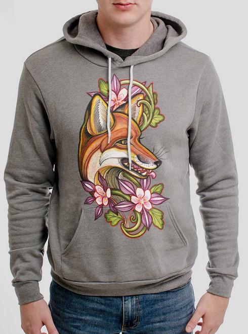 Fox - Multicolor on Heather Grey Men's Pullover Hoodie