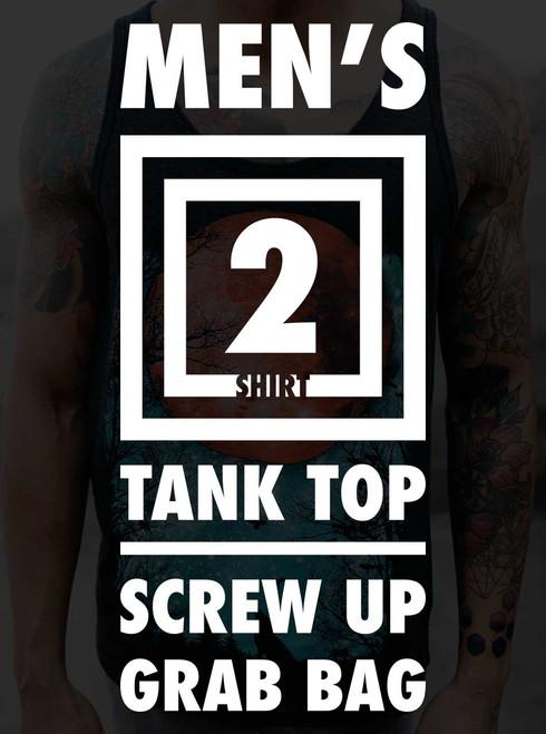 Men's Tank Top Screw Up Grab Bag - 2 Random Shirts