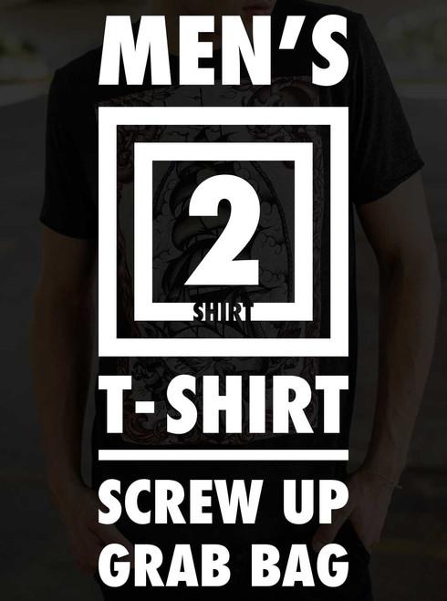 Men's T Shirt Screw Up Grab Bag - 2 Random Shirts
