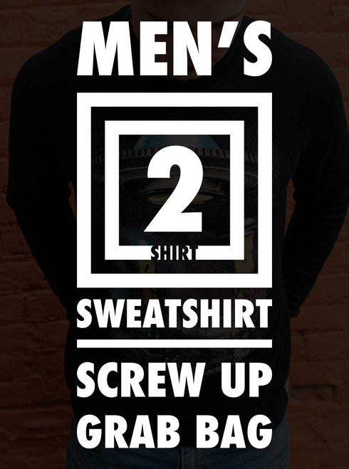 Men's Sweatshirt Screw Up Grab Bag - 2 Random Sweatshirt
