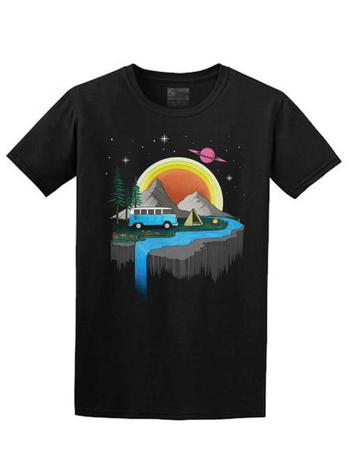 Camping - Black Unisex T-Shirt