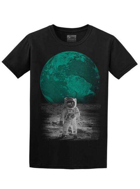 Spaceman - Black Unisex T-Shirt