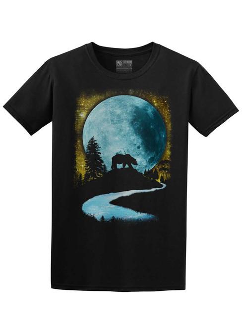 Bear Moon - Black Unisex T-Shirt