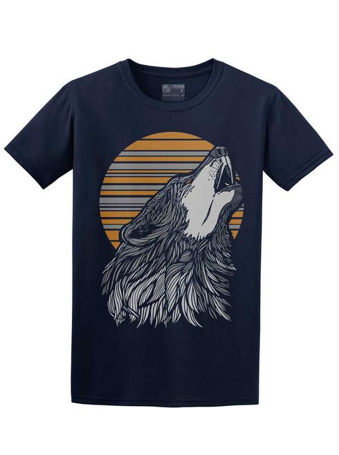 Wolf - Navy Unisex T-Shirt