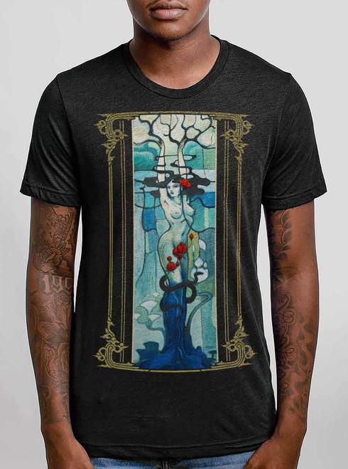 Daphne - Multicolor on Heather Black Triblend Mens T Shirt