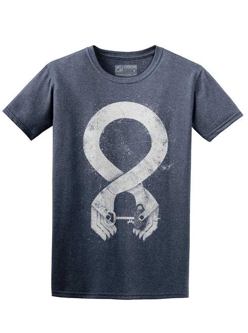 Handshake - Heather Navy Unisex T-Shirt