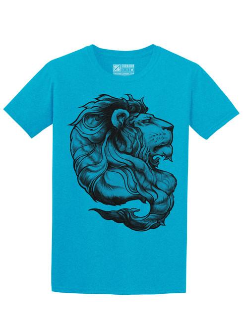 Lion - Heather Sapphire Unisex T-Shirt