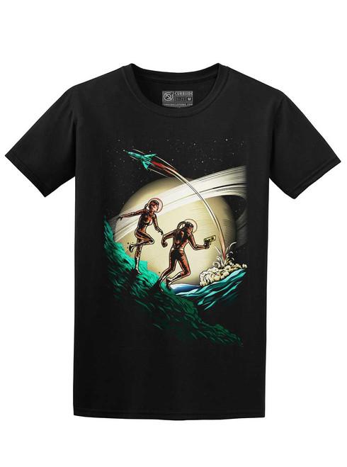 Space Travelers - Black Unisex T-Shirt