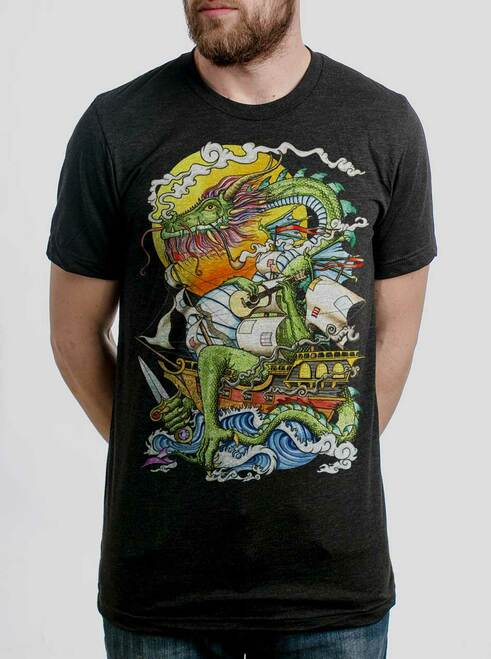 Puff - Multicolor on Heather Black Triblend Mens T Shirt