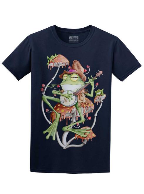 Folk Frog - Navy Unisex T-Shirt