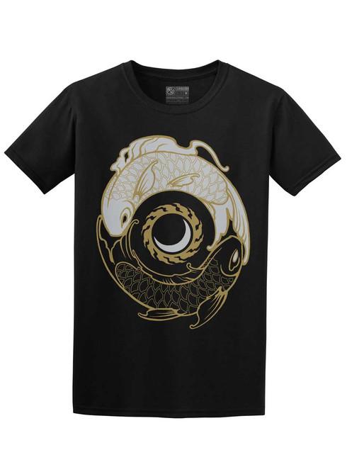 Koi Balance - Black Unisex T-Shirt