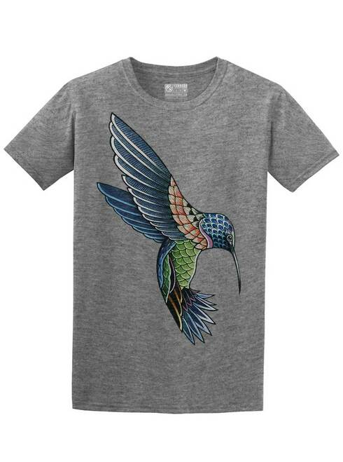 Hummingbird - Graphite Heather Unisex T-Shirt