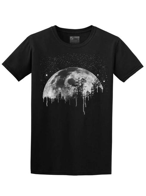 Moon - Black Unisex T-Shirt