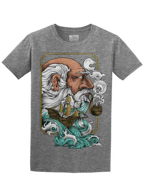 Old Man and the Sea - Graphite Heather Unisex T-Shirt
