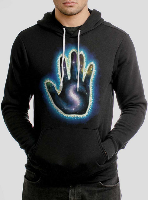 Destiny - Multicolor on Black Men's Pullover Hoodie