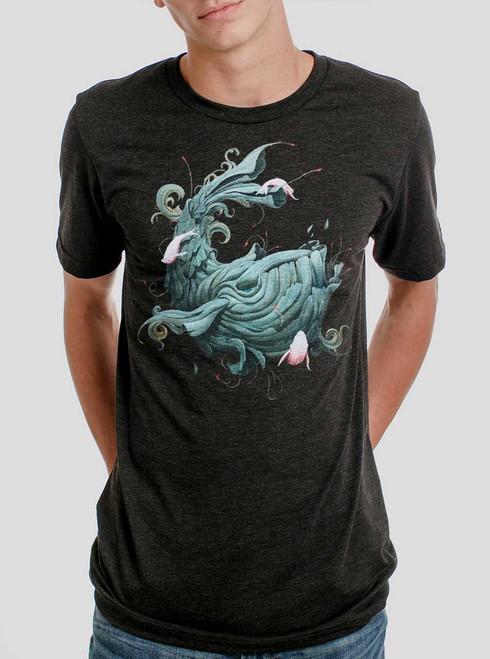 Whale Wonder - Multicolor on Heather Black Triblend Mens T Shirt