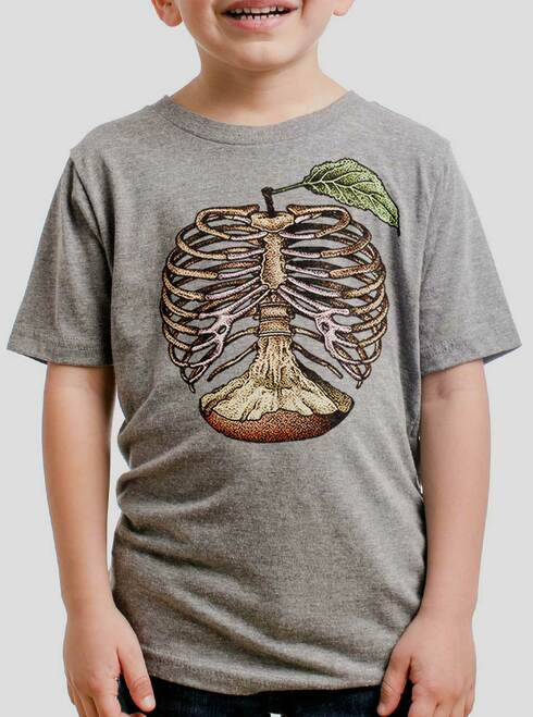 Apple a Day - Multicolor on Heather Grey Triblend Youth T-Shirt