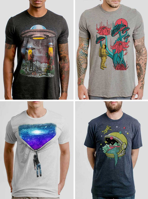 Space Pack - 4 Triblend Space T Shirts