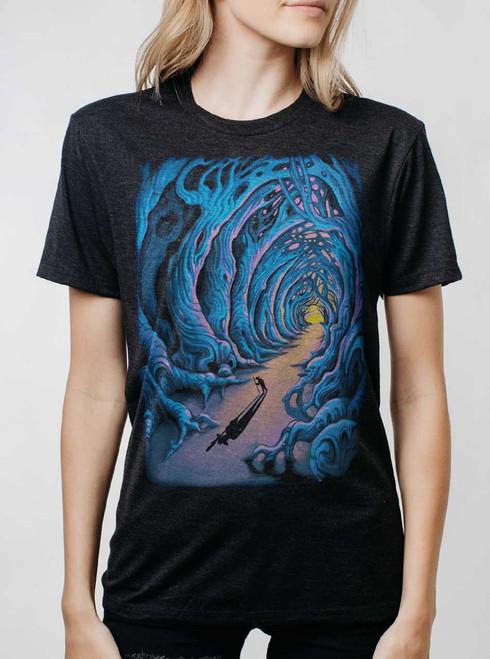 Wanderer - Multicolor on Heather Black Triblend Womens Unisex T Shirt