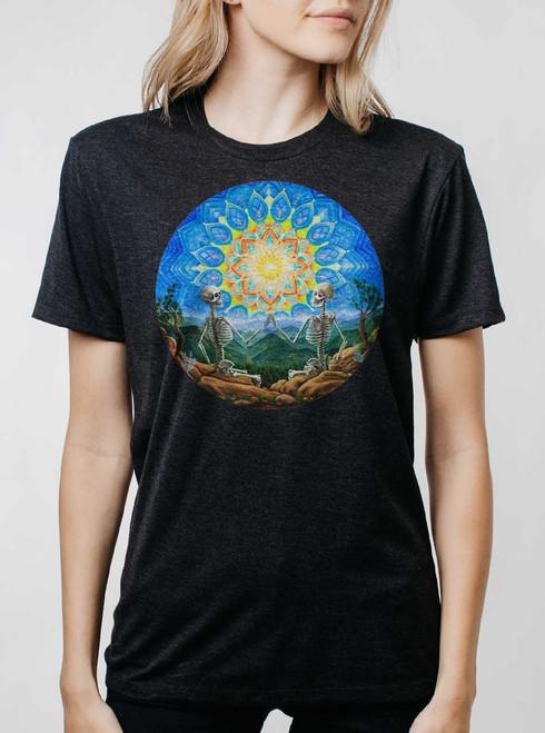 Union - Multicolor on Heather Black Triblend Womens Unisex T Shirt