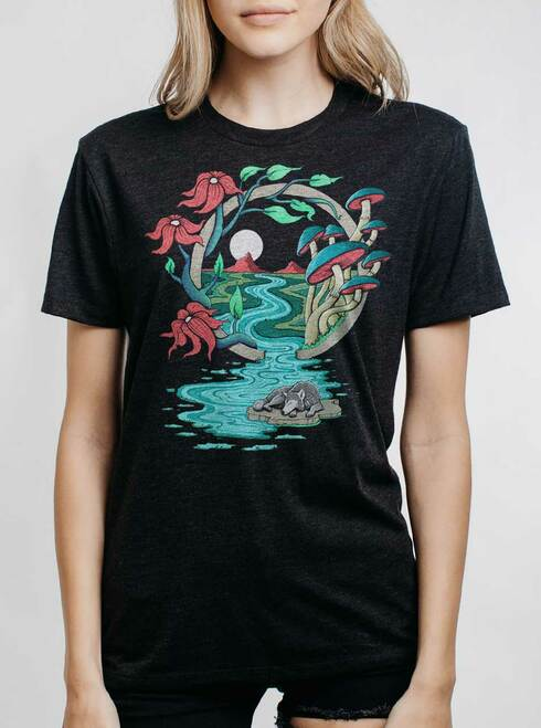 Spirit Guide - Multicolor on Heather Black Triblend Womens Unisex T Shirt