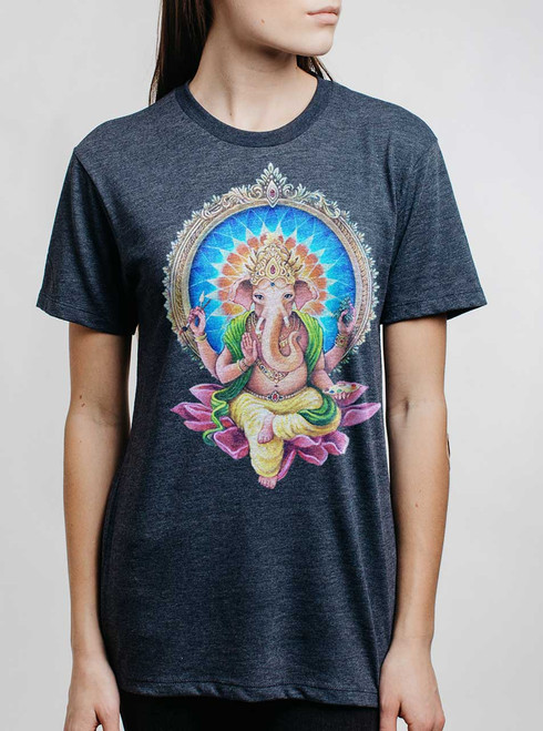 Remover of Obstacles - Multicolor on Heather Navy Womens Unisex T Shirt